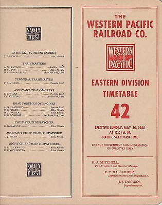 Western Pacific - Eastern Division - No 42 - May 1948