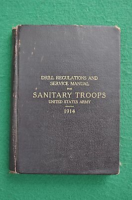 WWI US Army Drill Regulation for Sanitary troops 1914