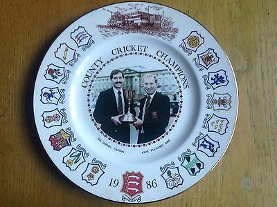 Essex County Cricket Champions 1986 commemorative plate