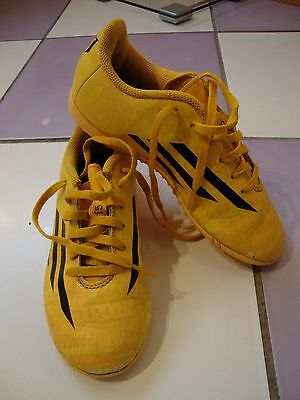 boys yellow football trainers size 1  from ADIDAS