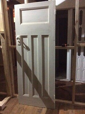 recycled solid timber white door