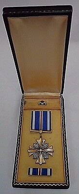 WWII WW2  Distinguished Flying Cross Ribbon Lapel w/Coffin Case FREE SHIPPING!!!