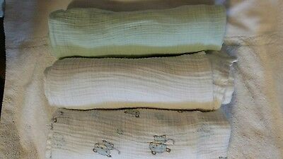 Aden And Anais Muslin Blanket Lot of 3 Swaddling Blankets