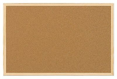 Large Cork Notice Pin Board W900xH600mm Home Office Present Pictures Memo