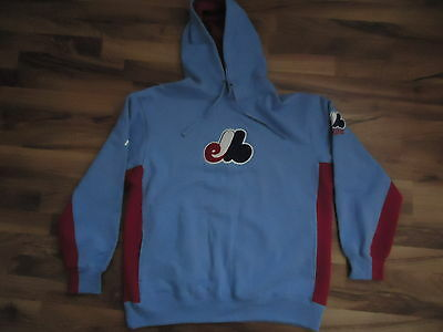 Montreal Expos MLB Hoodie Size Large Cooperstown Collection