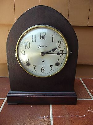 Antique Clock Antique Sessions Clock Chime Strike Mantle Clock