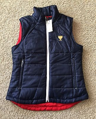 Womens The Presidents Cup Windwear Golf Vest Size Small NWT