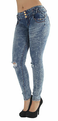 CB9-92461(S) -Butt Lifting, Levanta Cola, Destroyed ripped, Skinny Jeans