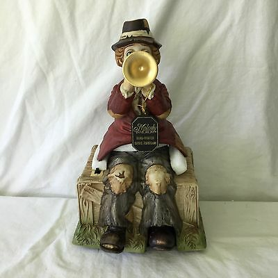 Melody In Motion WILLIE THE TRUMPETER Hobo Music Box Animated Waco #7000 MIB