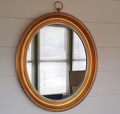 Vintage Gold Leaf Mirror LaBarge Or Freidman Brothers Hollywood Chic Mid Century