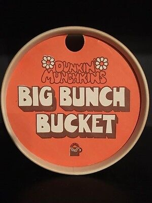 Vintage EUC Wizard Of Oz Dunkin Munchkin Donughts  Bucket Container Donuts