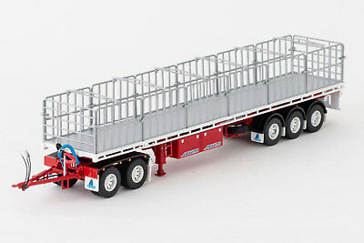 New Drake Maxitrans Freighter Road Train Trailer Red White 1:50 Replica ZT09139