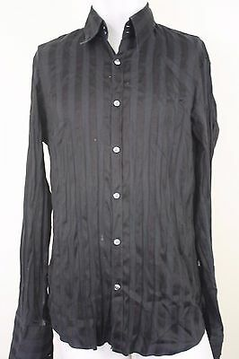 Hugo Boss Black Label Men's cotton black shirt button up Size XL