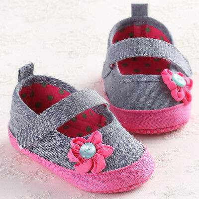 Toddler Baby Infant Kids Girls Soft Sole Crib Shoes Party Dressing Shoes 12 US