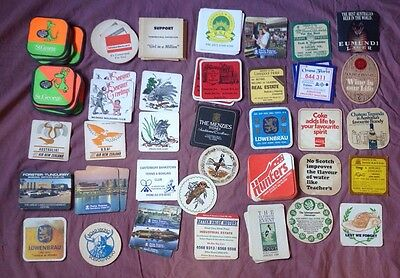 BAR COASTER COLLECTION 100+ VINTAGE drink advertising BUNDLE BULK LOT banking