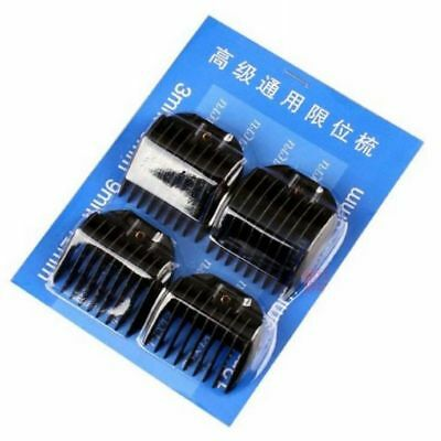 4pcs Guide Limit  Comb Attachment For Electric Hair Clipper Trimmer Shaver Black