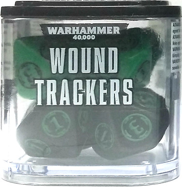 Warhammer 40K - Wound Trackers 8ct - Black & Green - Brand New - Free Shipping