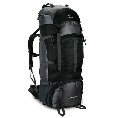80L Sport  Military Travel Hiking Camping Luggage Backpack Rucksack black Men