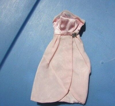Vintage Tressy Doll Pink Evening Jewel Gown American Character Tagged 1965