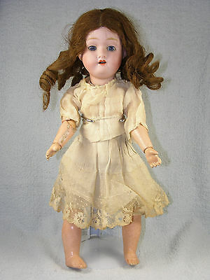 """Antique Bisque Head Dolly Face Doll - Morimura Brothers 13"""" - c1900"""