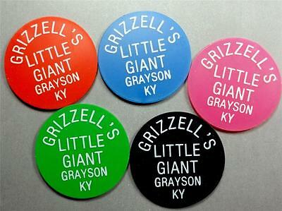 GRAYSON KENTUCKY Trade Tokens GRIZZELL'S LITTLE GIANT 5pcs 1-5-10-25-50¢ ME6513