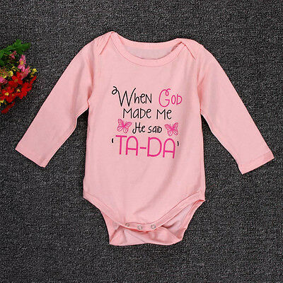 Newborn Baby Boys Girls Letter Bodysuit Romper Jumpsuit Outfits Clothes 70 US