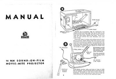 Movie-Mite 16mm Sound Projector Instruction Manual c1940's