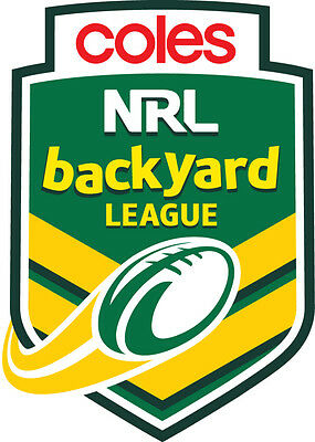 Steeden Rugby League Football Size 5 Brand New Coles NRL Backyard League