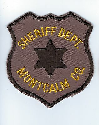 very old Montcalm County MI Michigan Sheriff Dept. patch - NEW! *Cloth Back*