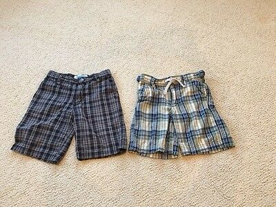 BABY GAP and FLAPDOODLES Boys Lot of 2 Pairs of Plaid Shorts Size 5