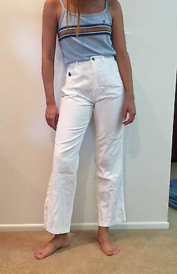 Vintage Women's 70s 80s High Waisted White Jeans Pants