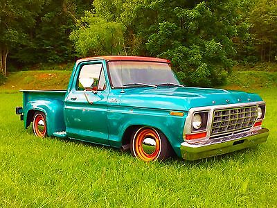 1978 Ford F-100 Custom TWIN TURBO V8 Ford F100 Custom Stepside 88k Original Miles Georgia Dentside