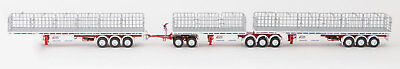 New Drake Freighter AB Triple Road Train Trailers Set Betts Bower 1:50 ZT09129