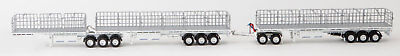 New Drake Maxitrans Freighter AB Triple Road Train Trailers White 1:50 ZT09124