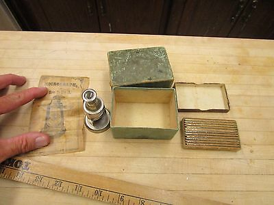Antique Micrograph And Slide Set  Microscope Miniature Pictures  Circa.1870s