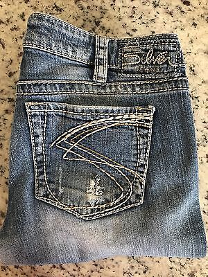 Silver Jeans Womens Size 31 Light Wash Distressed Aiko Bootcut
