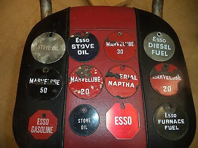 Esso  gas and oil tags