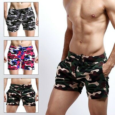 Camo Men Summer Boardshorts Surf Beach Swim Shorts Loose Trunks Pants Swimwear
