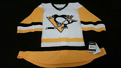 Official Reebok Pittsburgh Penguins Pro Road White Jersey size 56  !