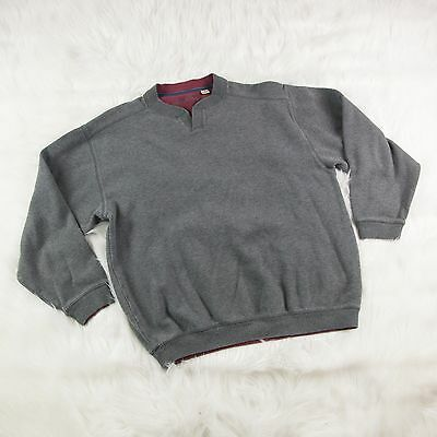 Tommy Bahama Charcoal Gray Long Sleeve Pullover Sweater 100% Cotton Size Medium