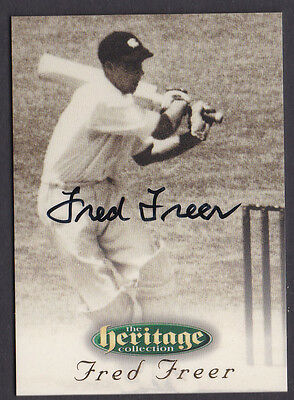 5 1996 Futera Cricket Heritage Collection Signature Card Fred Freer