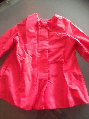 United Colors Of Benetton Red Girls Jacket Size 4-5 Excellent Condition