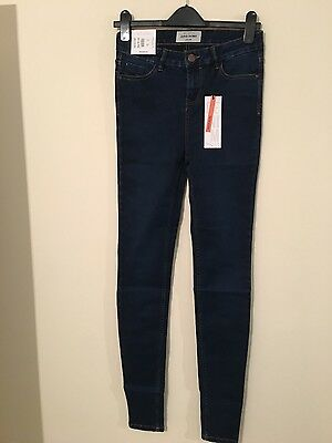 Womens New Look super skinny stretchey navy blue Jeans size 8