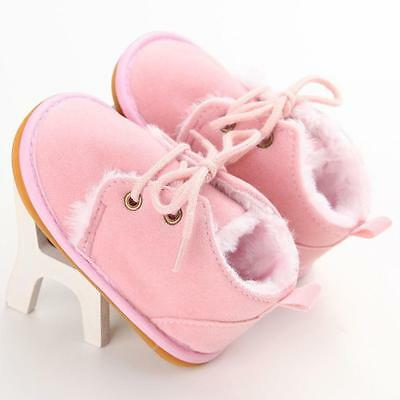 Pink Toddler Infant Baby kids Boy Winter Warm Snow Boots Crib Shoes Size 11 US