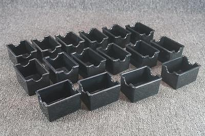 Set Of 16 Restaurant Sugar Packet Holders Black Plastic