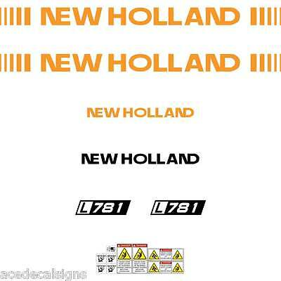 ANY MODEL L781 L783 L785 New Holland NH FORD Skid loader repro decals stickers