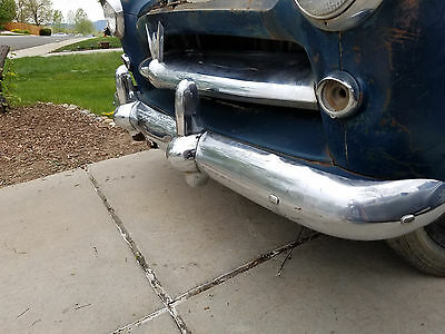 Willys Aero chrome FRONT bumper with guards   1954 53 52 55 Lark Ace Bermuda