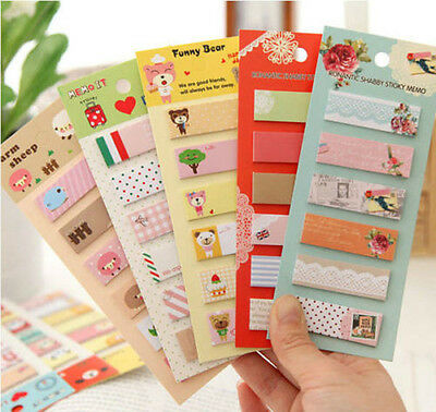 Post It Bookmark Writing Marker Memo Paper Flags Index Notepad Tab Sticky Notes