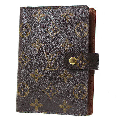 LOUIS VUITTON Agenda PM Day Planner Cover Monogram R20005 Vintage Auth #A188 W