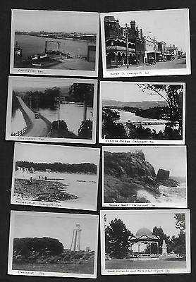 8 X Vintage Photographs Of Devenport, Tasmania - Black & White